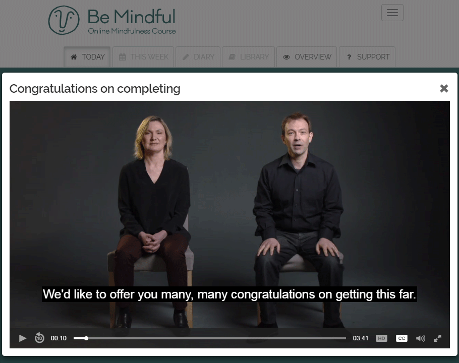Step-by-step guidance from leading mindfulness trainers