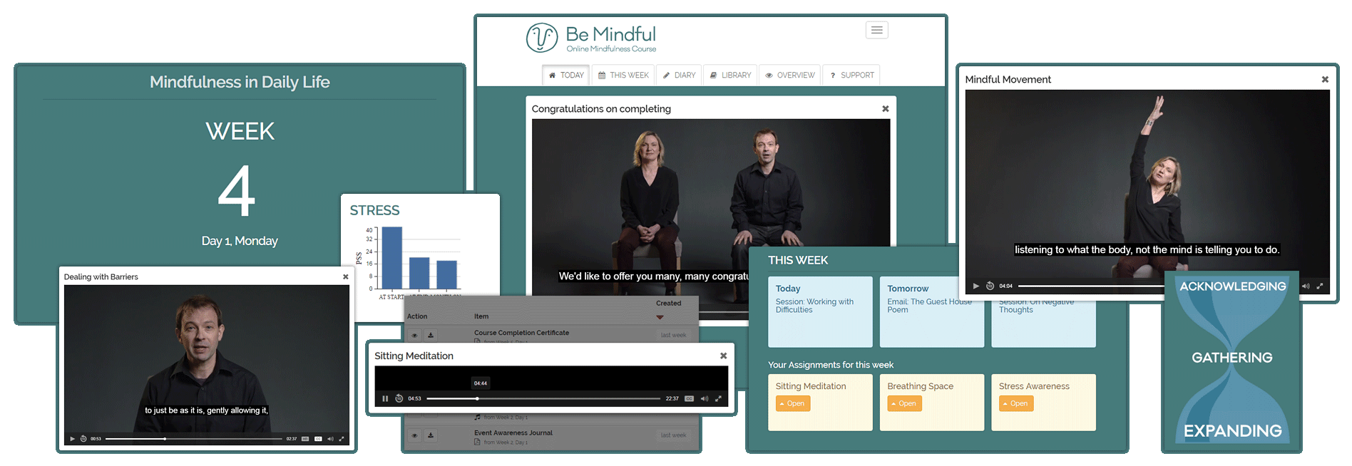 Find out more about the Be Mindful online mindfulness course