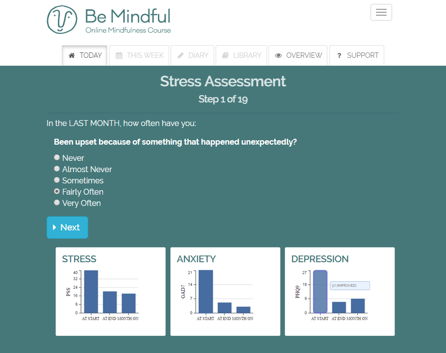 See progress with self-assessments
